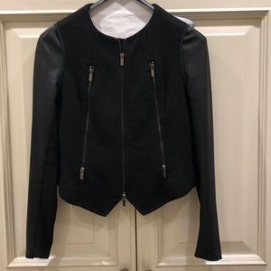 Bcbg Black fitted motorcycle jacket